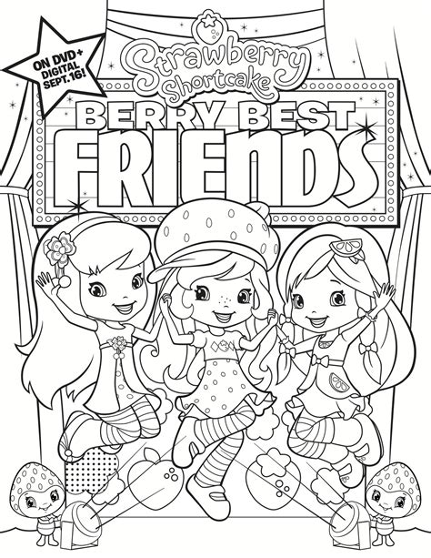 coloring book giveaway strawberry shortcake berry best friends coloring page