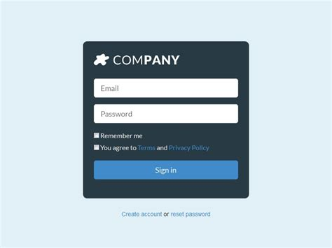 dark login form blue bootstrapzen