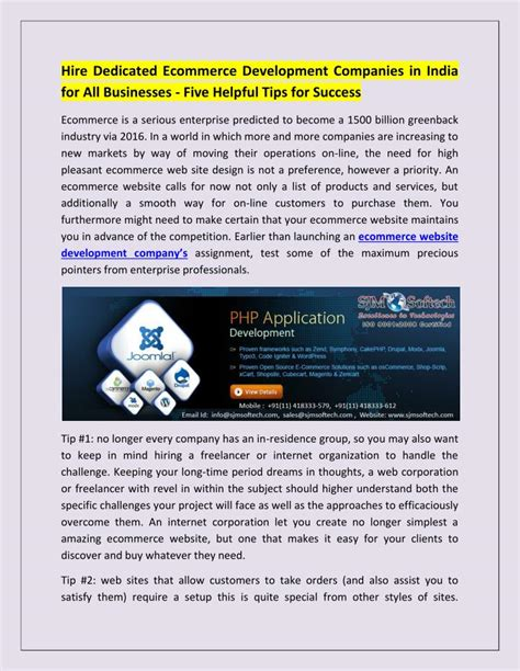 ecommerce website design development company ppt ecommerce website design development company in