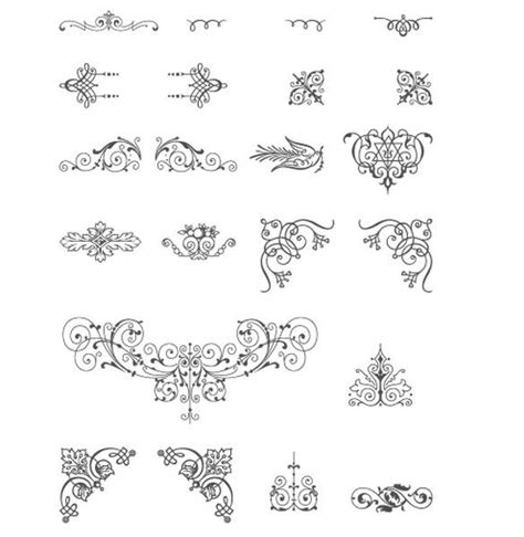 indian ornaments and design elements vector xoo plate vintage decorative ornament vector designs