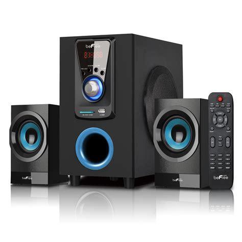 Bluetooth Speaker 2 1 Dazumba Dw166g befree sound 97095515m 2 1 channel surround sound bluetooth speaker system shop your way