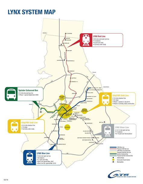 Lynx Light Rail Map Light Rail Map