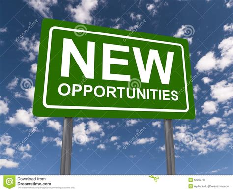 www new new opportunities stock photo image 52869757