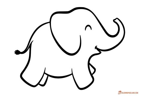 Elephant Coloring Page by Baby Elephant Coloring Pages For Coloring Page