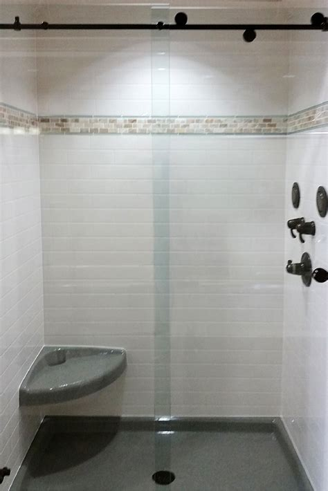 Simulated Marble Shower Walls by Shower Pan Kits Enclosure Base U0026 Backwall Kit Shower Kit With Reversible Sliding