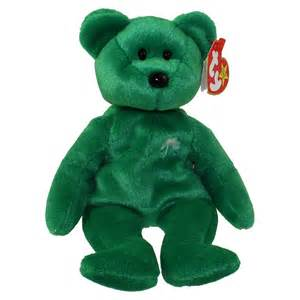 ty beanie baby erin the irish bear 8 5 inch