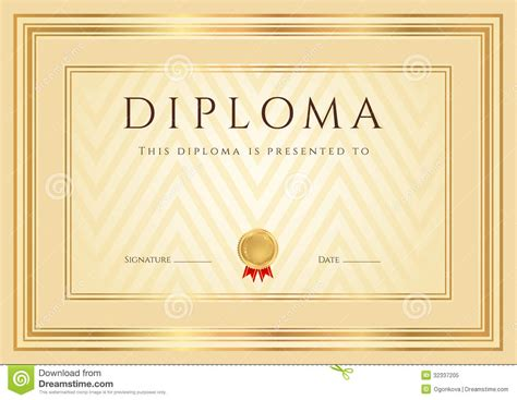 diploma certificate templates certificate diploma background template frame royalty