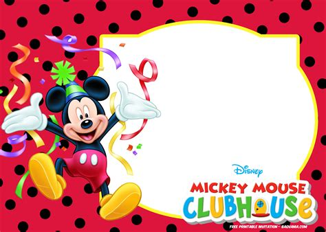 mickey mouse invitation templates free printable s on mickey mouse