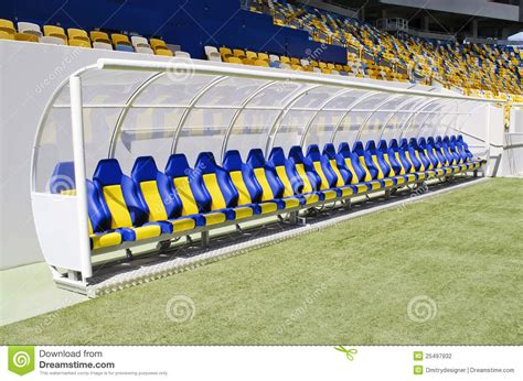 stadium benches bench players stock photography image 25497932