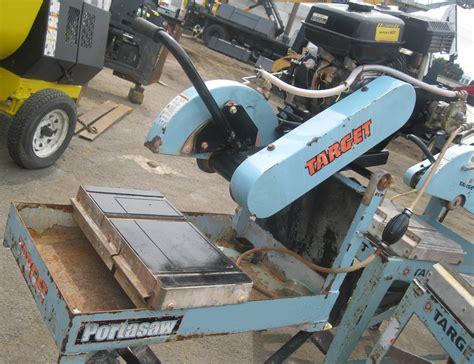 gas powered masonry table saw used construction equipment construction equipment