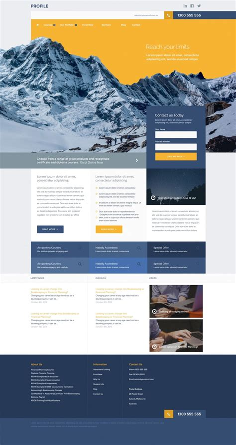 Free Corporate And Business Web Templates Psd Photoshop Website Templates