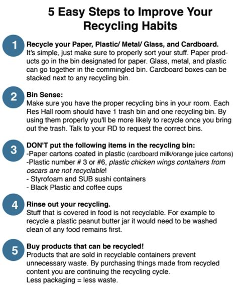 7 Tips On Recycling by 5 Easy Steps To Improve Your Recycling Habits Recycle