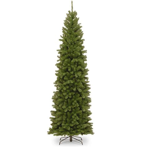 10 foot tree home depot national tree company 10 ft valley spruce pencil slim tree nrv7 505 100 the home depot