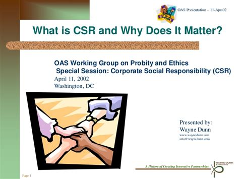 Does It Matter Where You Get Your Mba by What Is Csr And Why Does It Matter Keynote Presentation