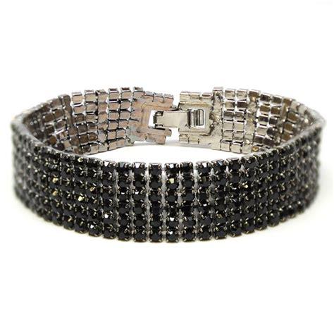 Rhinestone Bracelet black rhinestone bracelet