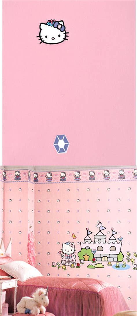 Walpaper Sticker Dinding Pink Hello 1 hello pink princess wallpaper wall decor store