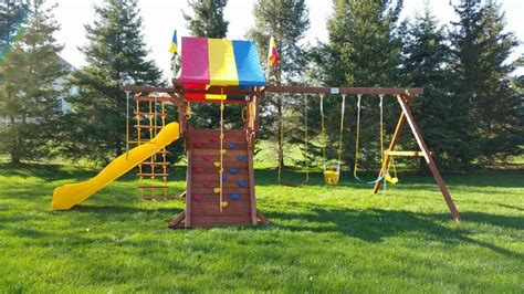 rainbow castle swing set 1000 images about swing set installation gallery on pinterest