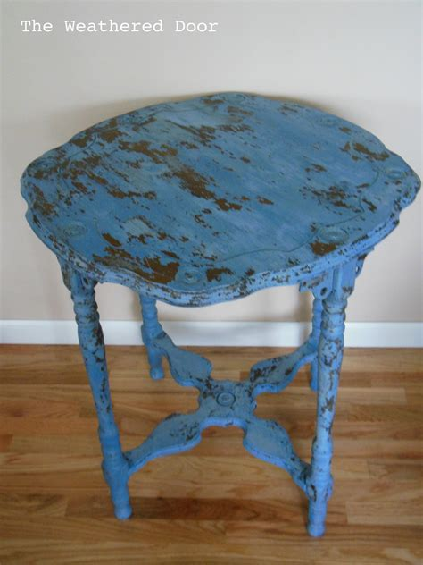 Blue Table Painting federal blue milk paint table the weathered door