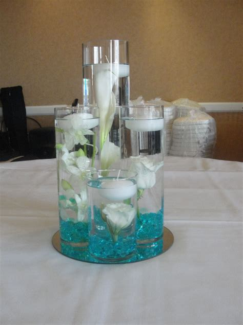 submerged white flowers centerpiece   Finest City Florist