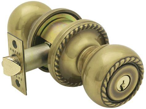 Lockable Door Knobs by Emtek Rope Brass Keyed Door Knob Lock Shop Handle Locks
