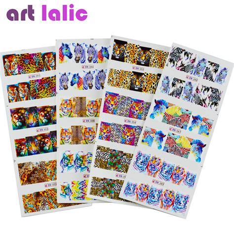 Nail Water Sticker 12 Pcs 1 aliexpress buy artlalic 12pcs lot 3d tiger zebra animal nail stickers diy nail