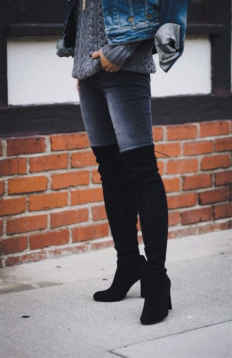 cozy friday cable sweater    knee boots