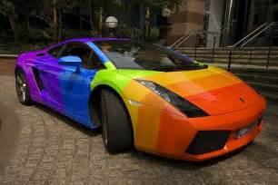 cool car colors rainbow lamborghini this is my brothers car by