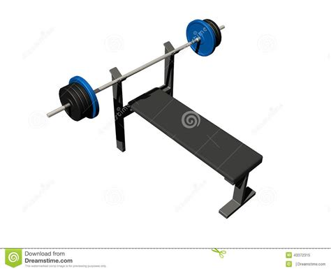 bench press with weights and bar bench press stock illustration image 43372315