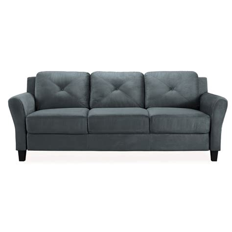 sofa solutions geneva il lifestyle solutions rc dlrs3p2001 delray sofa black sears