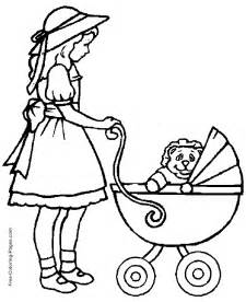 kids coloring pages baby carriage