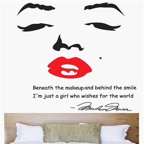 marilyn wall sticker wall designs marilyn wall portrait of