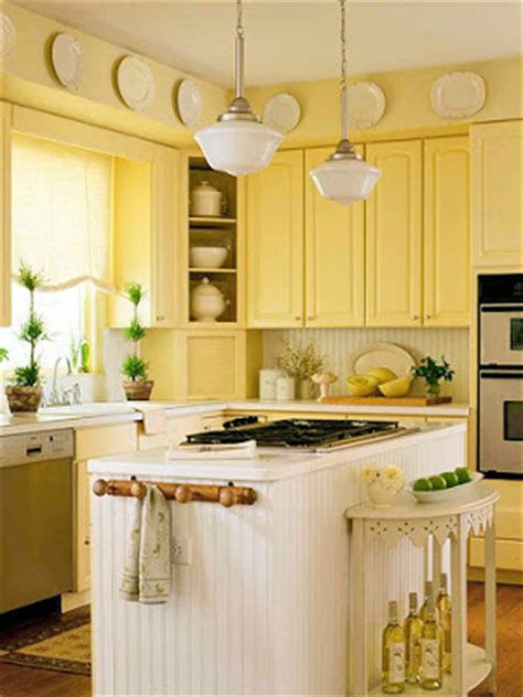 cottage certain ideas for a yellow kitchen afreakatheart