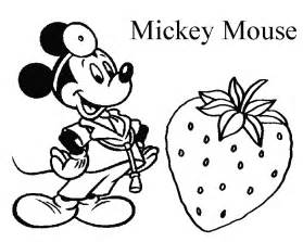 disney mickey mouse amp fruits coloring pages learn coloring