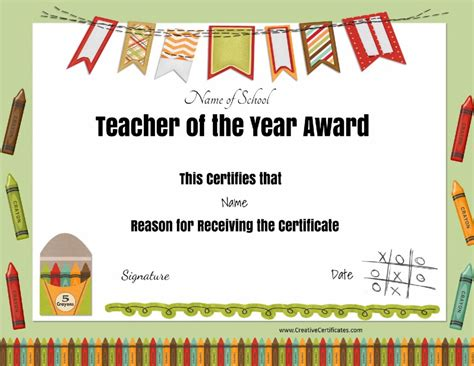certificate of appreciation for teachers template best certificate certificate templates