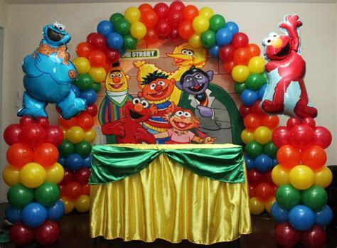 Sesame street balloon decoration balloons amp more ryan party decoration picture