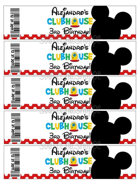 mickey mouse clubhouse printable birthday decorations custom printable mickey mouse clubhouse birthday party