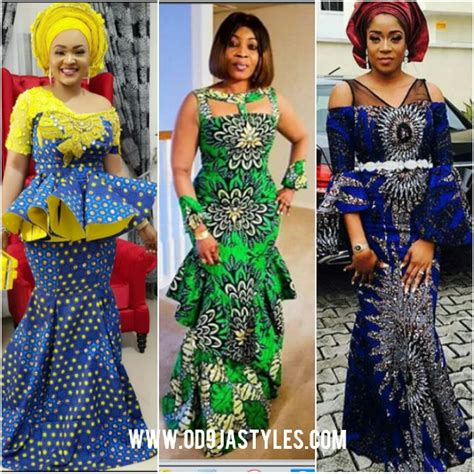 Simple Ankara Gowns For Burial