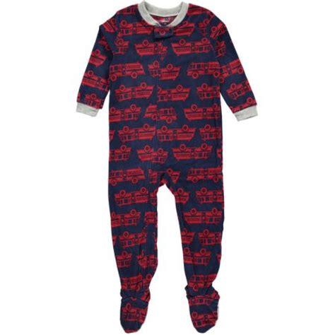 Next1 K Size 2t s boys toddler quot firetruck fleet quot footed pajamas sizes 2t 4t walmart