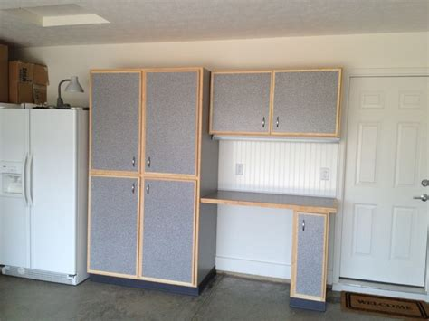 Garage Storage Cabinet Design Ideas Traditional Garage And Shed Interior Design With Grey Door