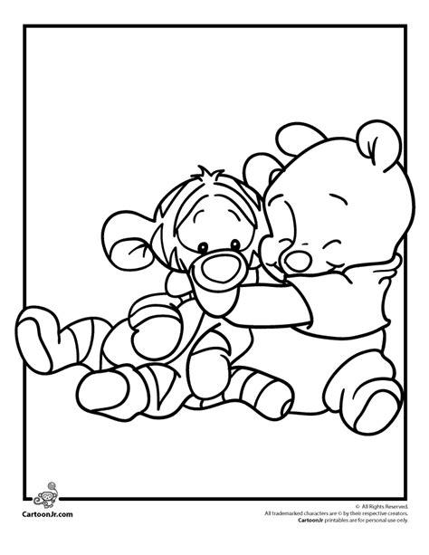 disney coloring pages babies disney babies coloring pages pooh and tigger disney babies
