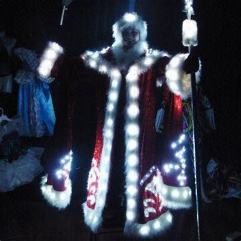 led light up santa suit for christmas and evening party