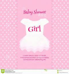 Baby girl baby shower invitation card template baby girl shower