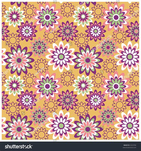 a seamless repeating retro floral a seamless repeating retro floral pattern in fashion
