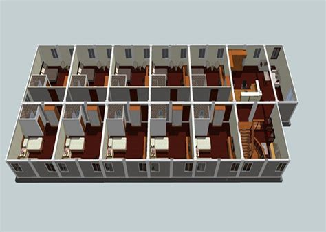 Prefab Habitable Flat Pack Container House Attractive