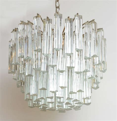 Camer Glass Chandelier lush camer glass chandelier with venini triedri crystals