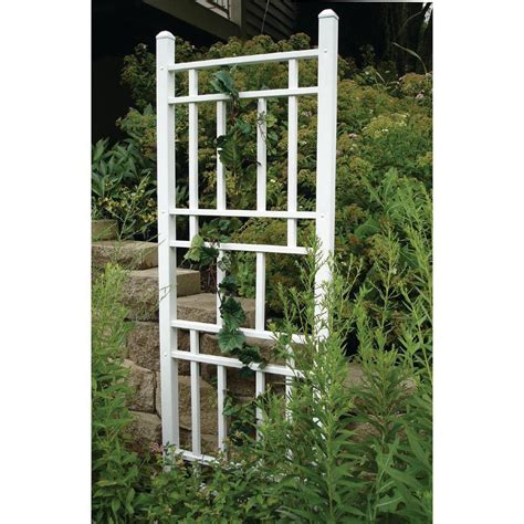 Trellis Inc dura trel 75 in x 28 in white vinyl pvc wellington