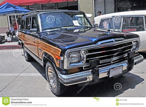 old jeep grand jeep grand wagoneer editorial stock photo image of retro