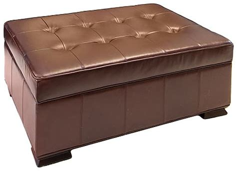 top grain leather storage ottoman furniture gt living room furniture gt leather ottoman gt top