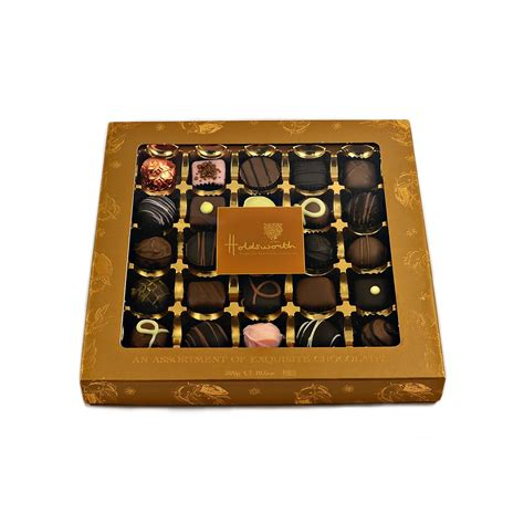Luxury Handmade Chocolates Uk - holdsworth luxury assortment of handmade chocolates 300g