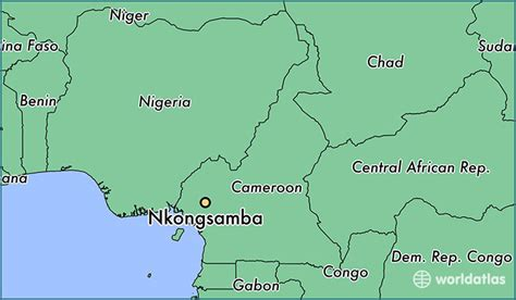 yaounde africa map where is nkongsamba cameroon where is nkongsamba
